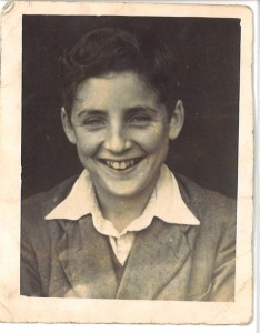 Tom Williams aged 13, circa 1954